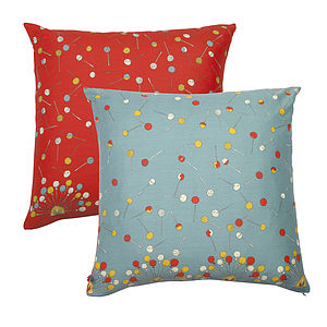 Reversible Lollipop Cushion - bedroom
