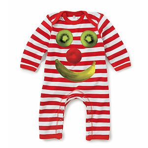Fruit Face Baby Playsuit/Romper - babygrows