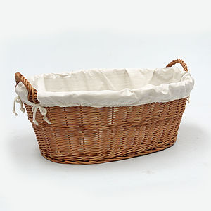 Wicker Laundry Basket Linen
