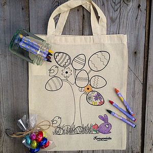 Easter Egg Tree Colour In Bag Kit - easter activities
