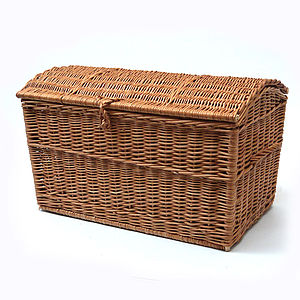 Wicker Chest Storage Basket - bedroom