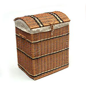 Tall Wicker Chest - living room