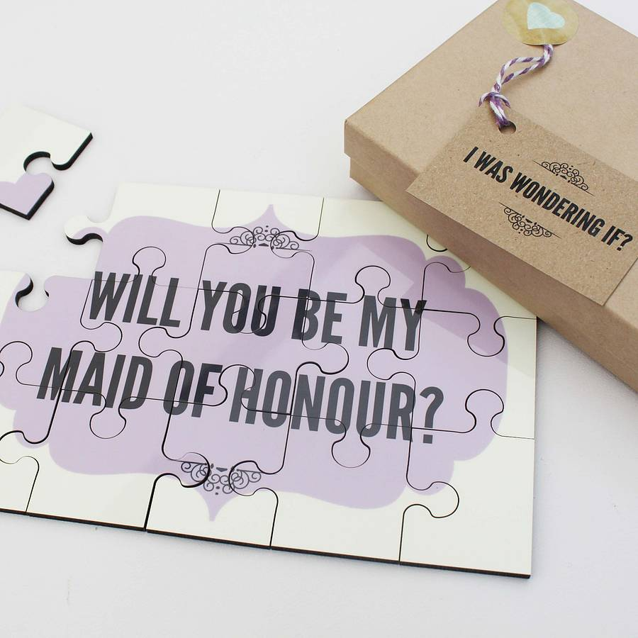 Will You Be My Maid Of Honour Personalised Gift By Lou Brown