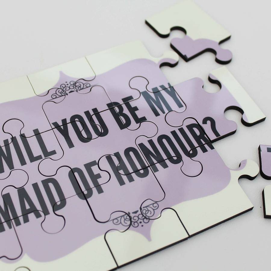 Will You Be My Maid Of Honour Personalised Gift