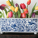 Porcelain Delft Blue Brick Vase