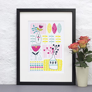 Personalised Floral Patterned Print