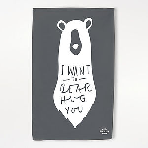 Bear Hug Tea Towel - tea towels