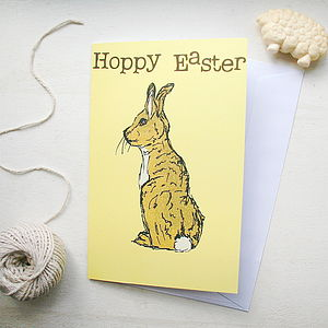 Farmyard Rabbit Easter Card