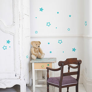 Small Star Wall Stiker Set - wall stickers