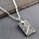 Small Meteorite Dog Tag necklace