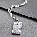 Meteorite And Silver Tag Necklace