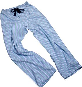 Pale Blue And Green Stripe Pj Bottoms For Teenagers - men's fashion