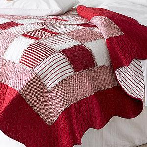 Orleans Cotton Patchwork Quilt - bedroom