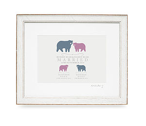 Bear Family Personalised Print