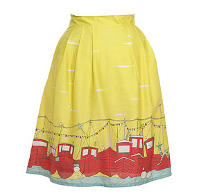 Elspeth Skirt In Yellow Boats - skirts