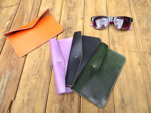 Vintaged Leather Glasses Case - bags & purses