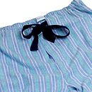Pale Blue And Green Stripe Pj Bottoms For Teenagers
