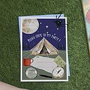 Pack Of Ten Camping Trip Party Invitations