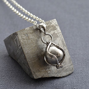 Meteorite Spinning Orb Necklace - necklaces