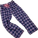 Pink And Navy Check Lounge Pants