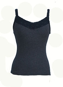 Wide Lace Camisole - tops & t-shirts