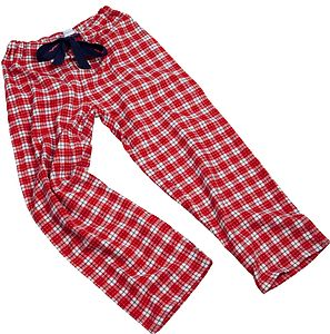 Red Check Pj Bottoms For Teenagers
