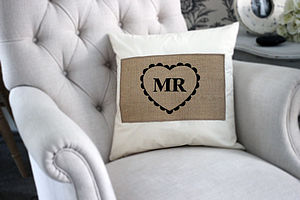 'Mr' Or 'Mrs' Cushion