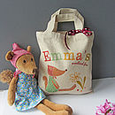 Personalised Bag With Soft Woodland Fox