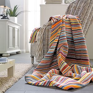 Bright Stripe Throw - bedroom