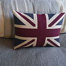Classic Hand Printed Union Jack Cushion