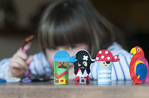 Pirate Finger Puppet Kit - party bags and ideas