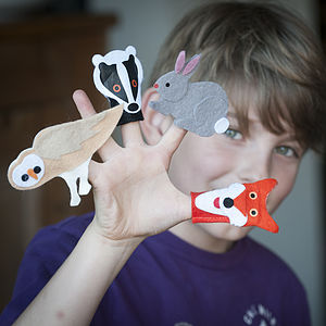 Woodland Finger Puppet Kit