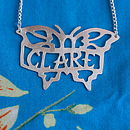 Handmade Tattoo Style Name Necklace