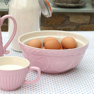 Pink Ceramic Mixing Bowl - crockery & chinaware