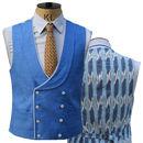 Cornflower Blue Contrasting Reverse Waistcoat