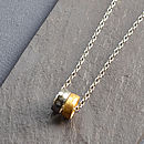 Small Meteorite Rings Necklace