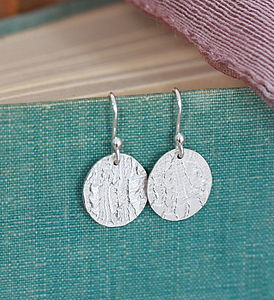 Handmade Silver Lace Drop Earrings