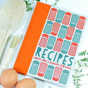 Notes For A Hungry Stomach   Recipe Notebook - kitchen accessories