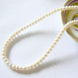 Ivory Button Pearl Necklace - necklaces & pendants