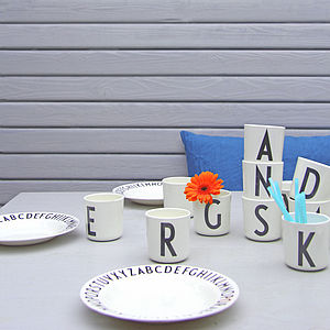 Melamine Alphabet Cups - children's tableware
