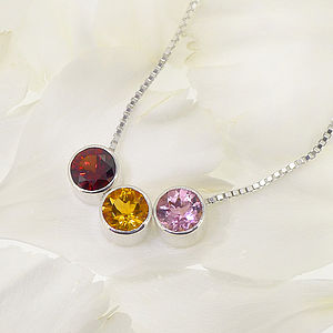 Birthstone Necklace - wedding thank you gifts