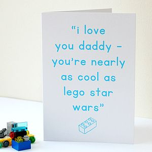 Personalised Lego Card - father's day cards