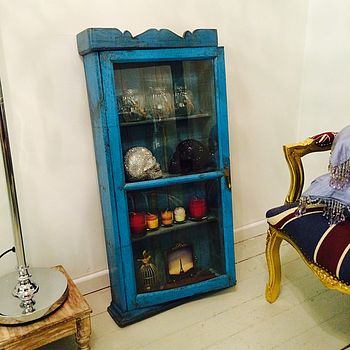 Farmhouse Style Vintage Display Cabinet