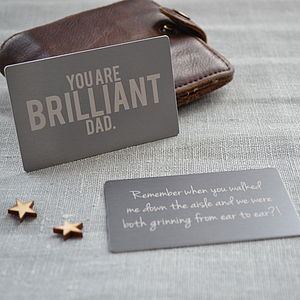 Brilliant Dad Wallet Keepsake Card - father's day cards