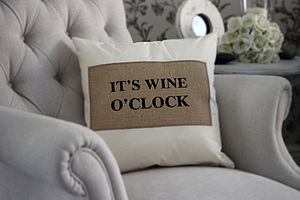 Drink O'clock Cushion - living room