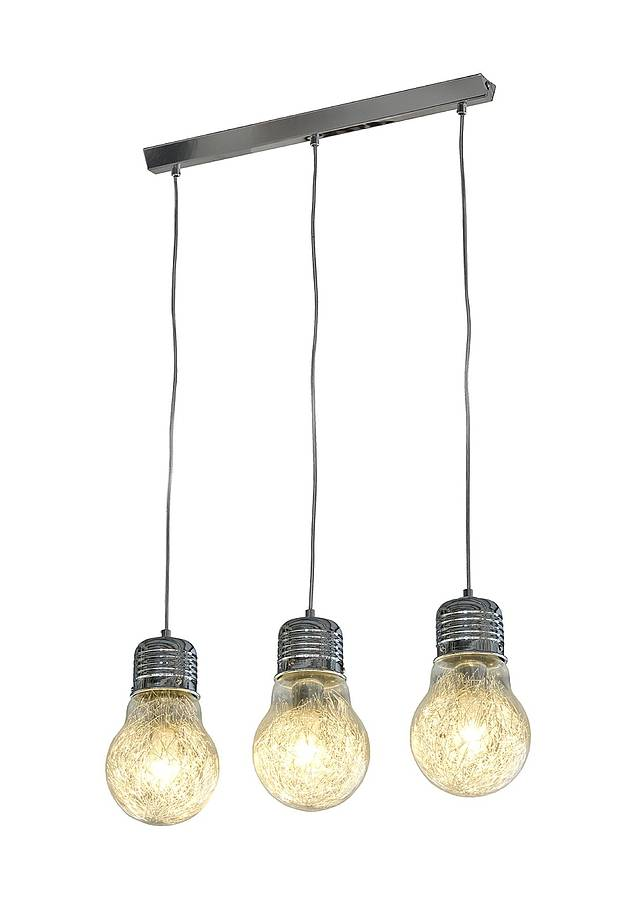 Contemporary Three Bulb Chandelier