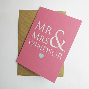 Personalised Couple Card - cards