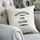 Reserved For Daddy Cream Cushion