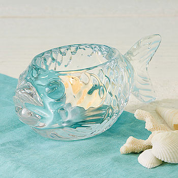 Glass Fish Tealight Holder