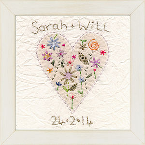 Personalised Heart Picture - children's pictures & paintings